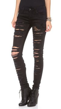 Skinny ripped jeans that will make you rock 42