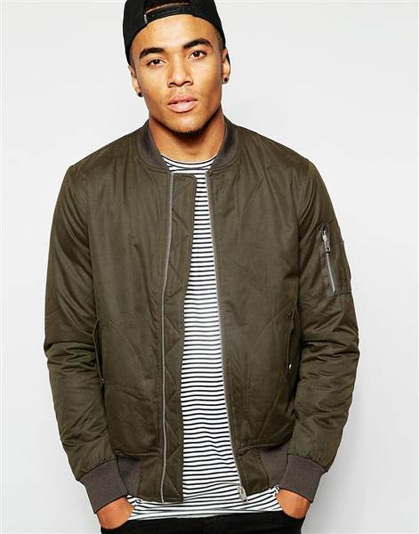Top best model men bomber jacket outfit 48