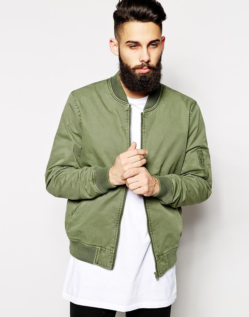 Top best model men bomber jacket outfit 53