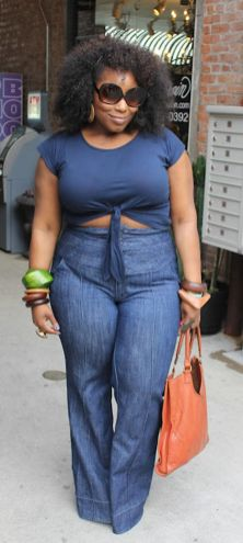 Wide leg denim plus size 17