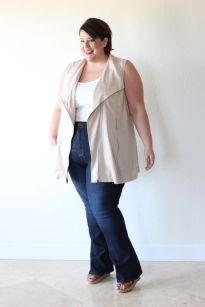 Wide leg denim plus size 19