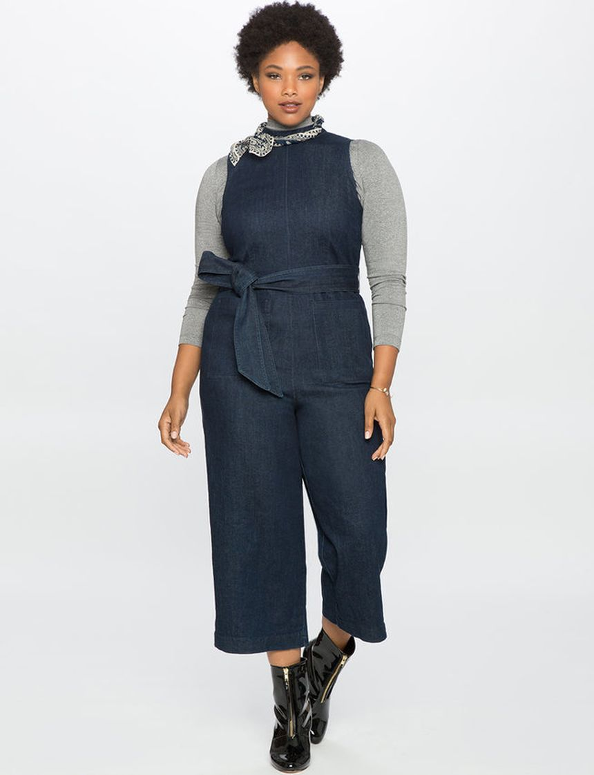 Wide leg denim plus size 23
