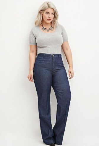 Wide leg denim plus size 41
