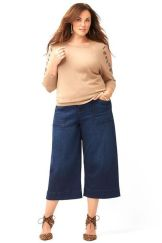 Wide leg denim plus size 42