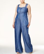 Wide leg denim plus size 49