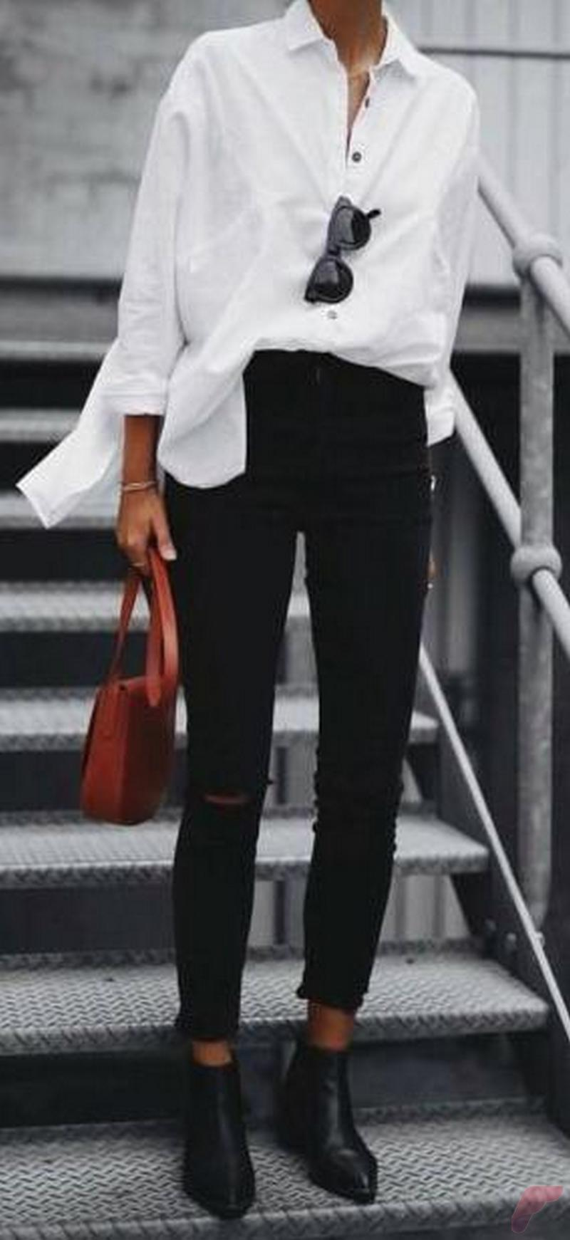 Women white shirt for work (180)