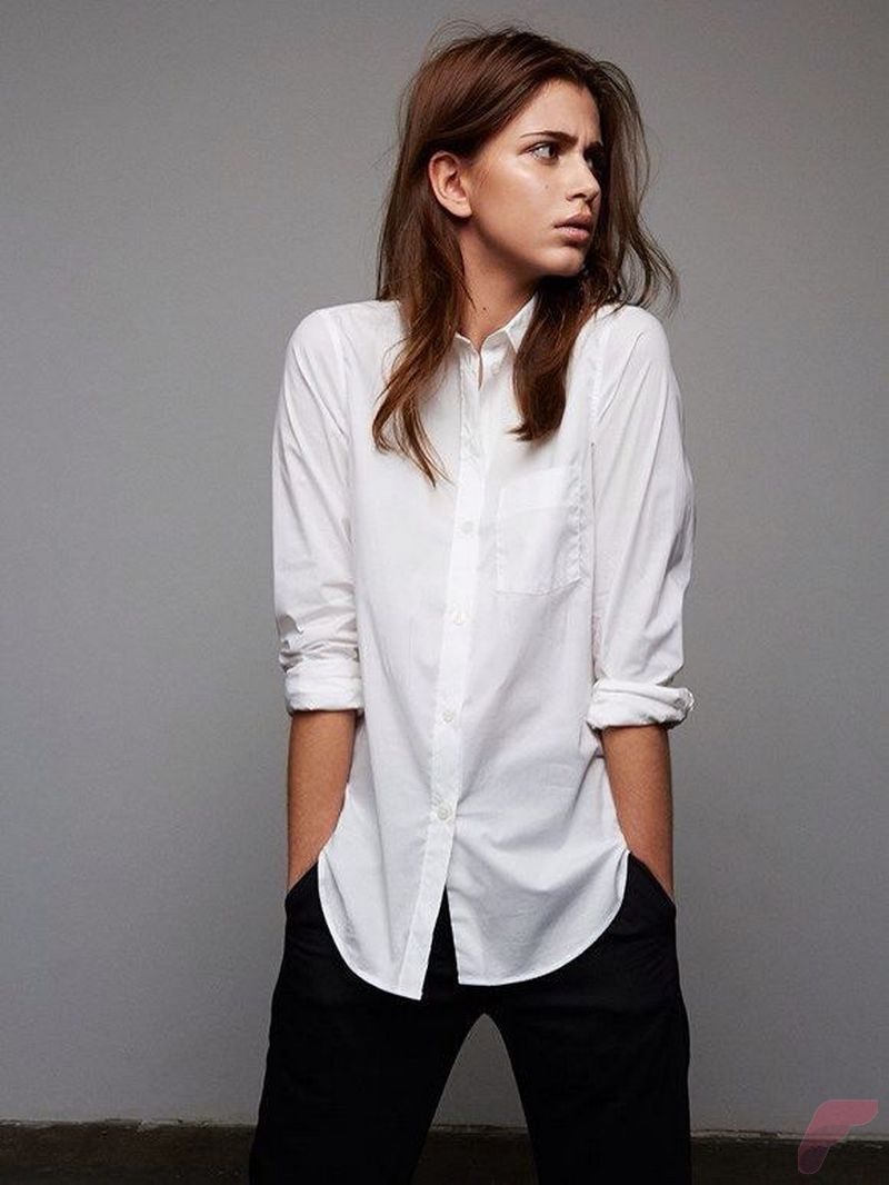 Women white shirt for work (202)