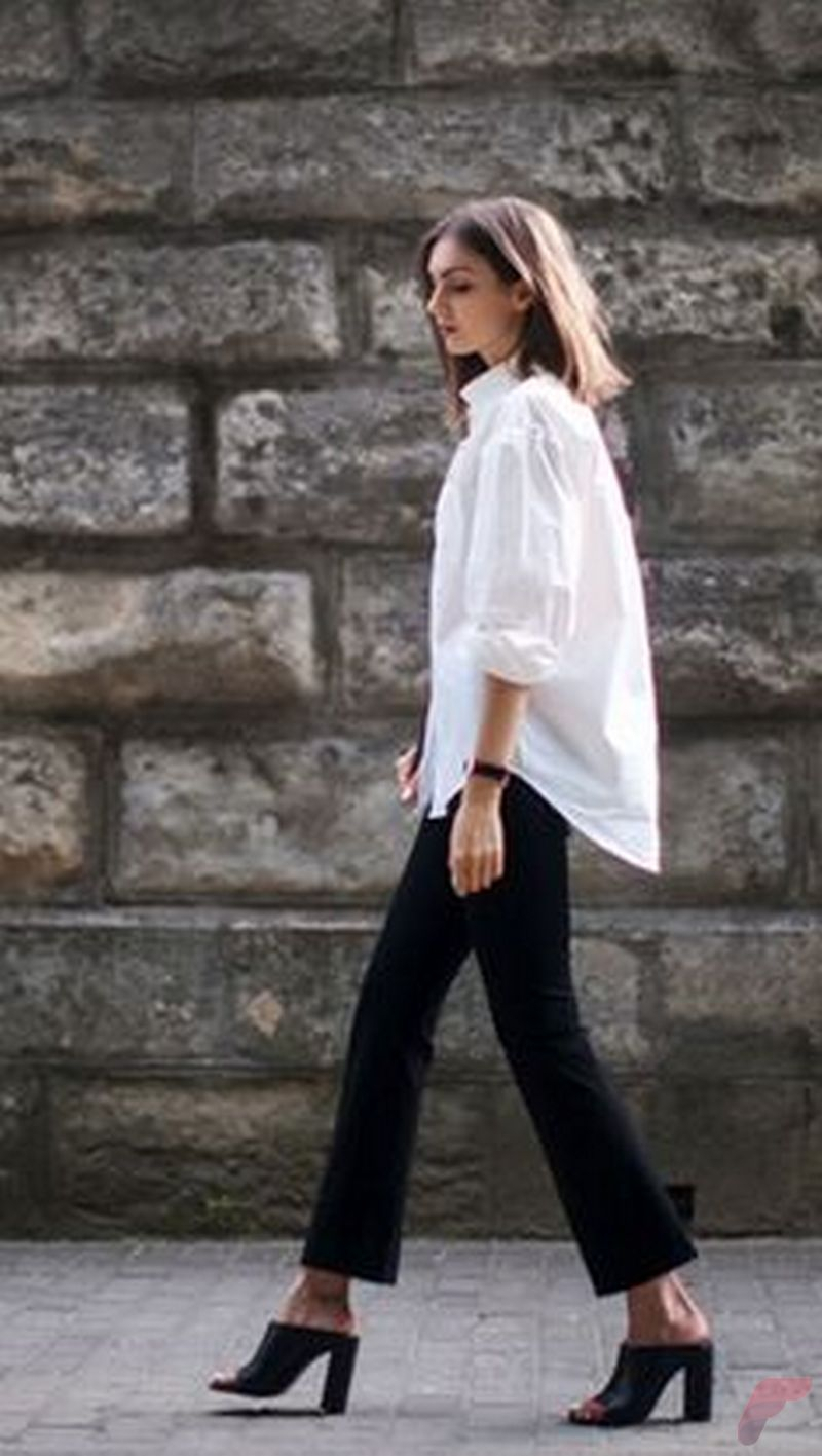 Women white shirt for work (267)
