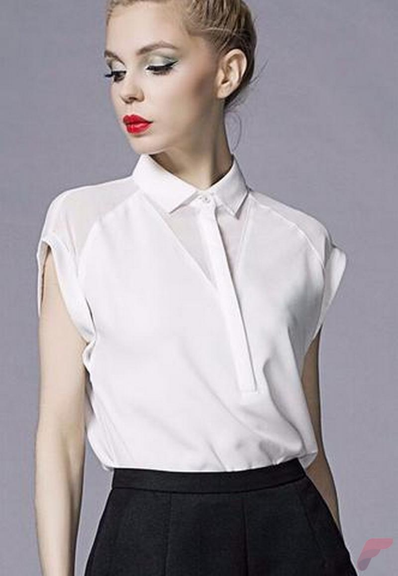 Women white shirt for work (289)