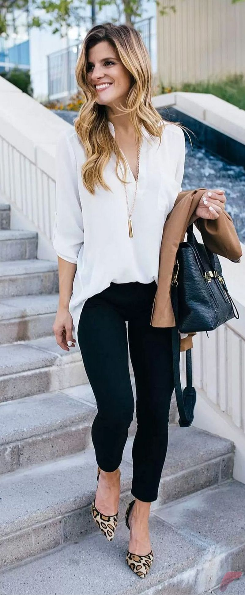 Women white shirt for work (292)