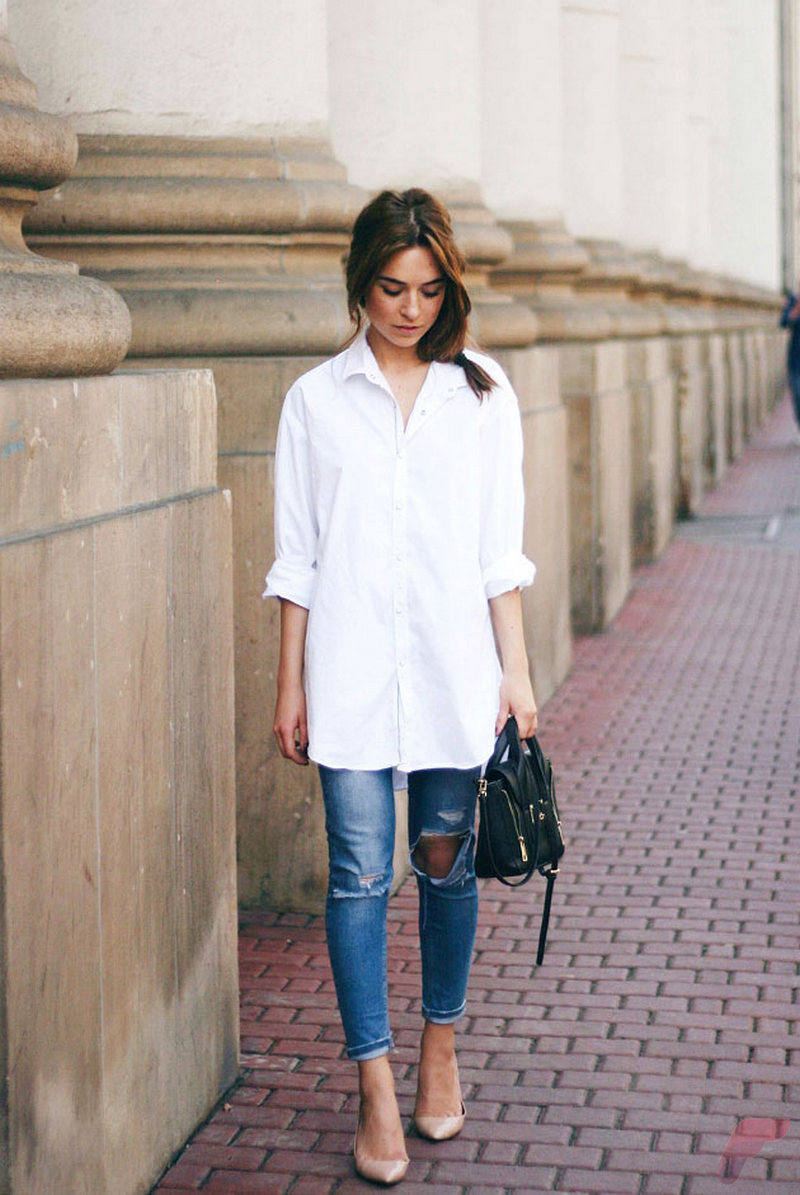 Women white shirt for work (314)