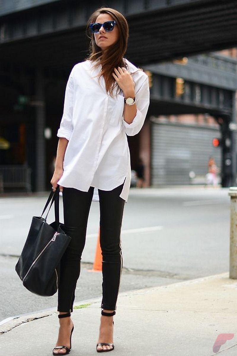 Women white shirt for work (327)