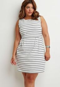 Amazing plus size striped dress outfits ideas 102