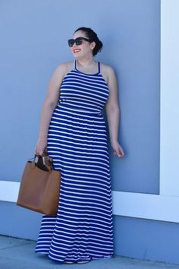 Amazing plus size striped dress outfits ideas 104