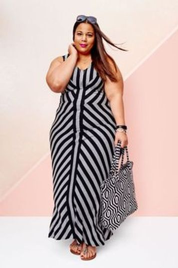 Amazing plus size striped dress outfits ideas 25