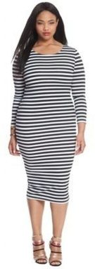 Amazing plus size striped dress outfits ideas 28