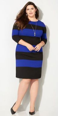 Amazing plus size striped dress outfits ideas 30