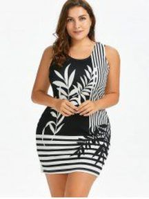 Amazing plus size striped dress outfits ideas 48