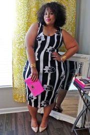 Amazing plus size striped dress outfits ideas 56