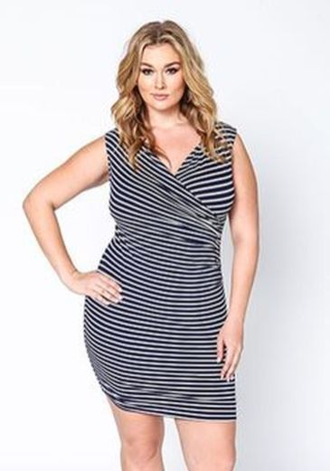 Amazing plus size striped dress outfits ideas 64