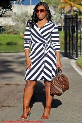Amazing plus size striped dress outfits ideas 65