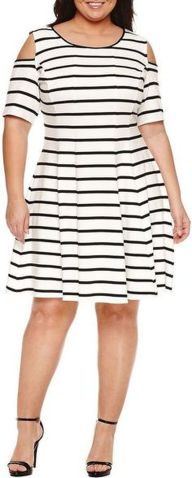 Amazing plus size striped dress outfits ideas 72