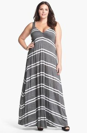 Amazing plus size striped dress outfits ideas 77