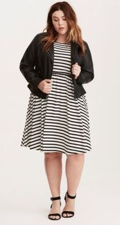 Amazing plus size striped dress outfits ideas 79