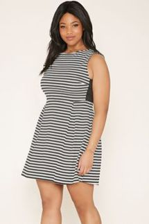 Amazing plus size striped dress outfits ideas 80