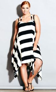 Amazing plus size striped dress outfits ideas 82
