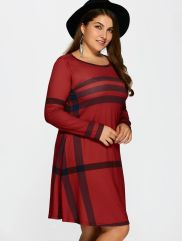 Amazing plus size striped dress outfits ideas 86