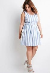 Amazing plus size striped dress outfits ideas 89
