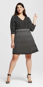 Amazing plus size striped dress outfits ideas 93