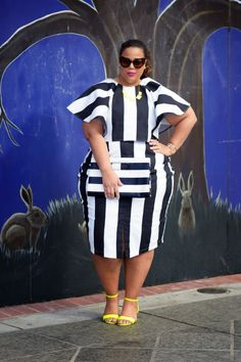 Amazing plus size striped dress outfits ideas 98