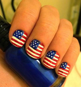 Awesome american flag nail art 11