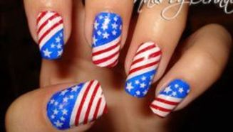 Awesome american flag nail art 13