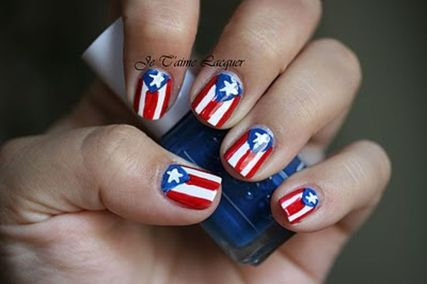 Awesome american flag nail art 16