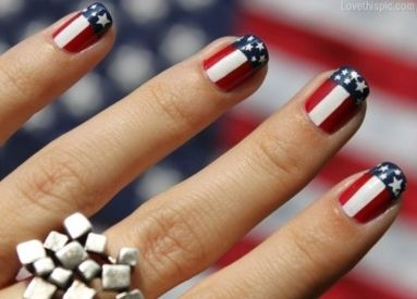 Awesome american flag nail art 18