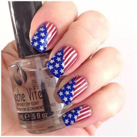 Awesome american flag nail art 2