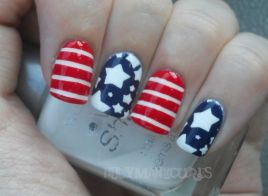 Awesome american flag nail art 20