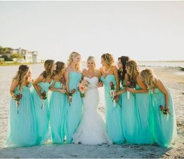 Awesome elegance turquoise bridesmaid dress 15