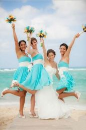 Awesome elegance turquoise bridesmaid dress 28 1