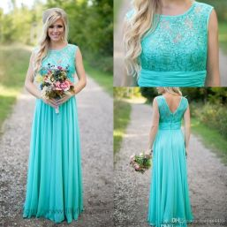 Awesome elegance turquoise bridesmaid dress 42