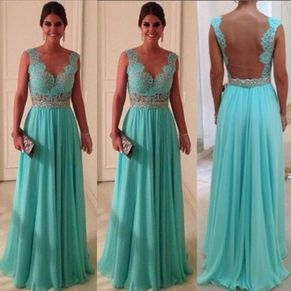 Awesome elegance turquoise bridesmaid dress 47