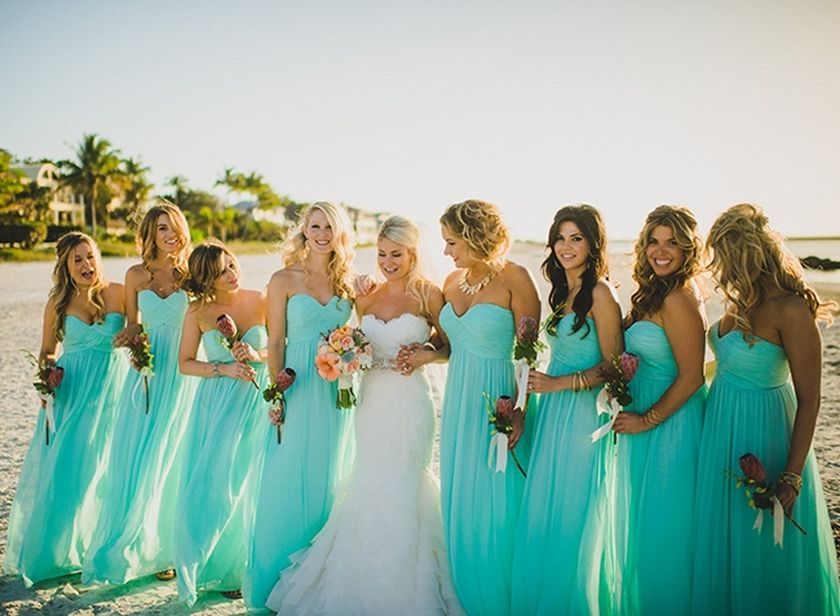 Awesome elegance turquoise bridesmaid dress 56