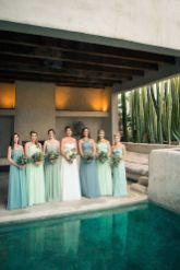Awesome elegance turquoise bridesmaid dress 8