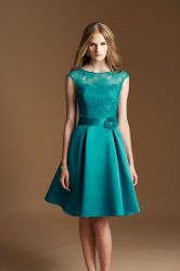 Awesome elegance turquoise bridesmaid dress 9