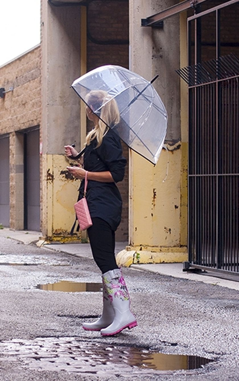 Awesome rainy day outfit style 24