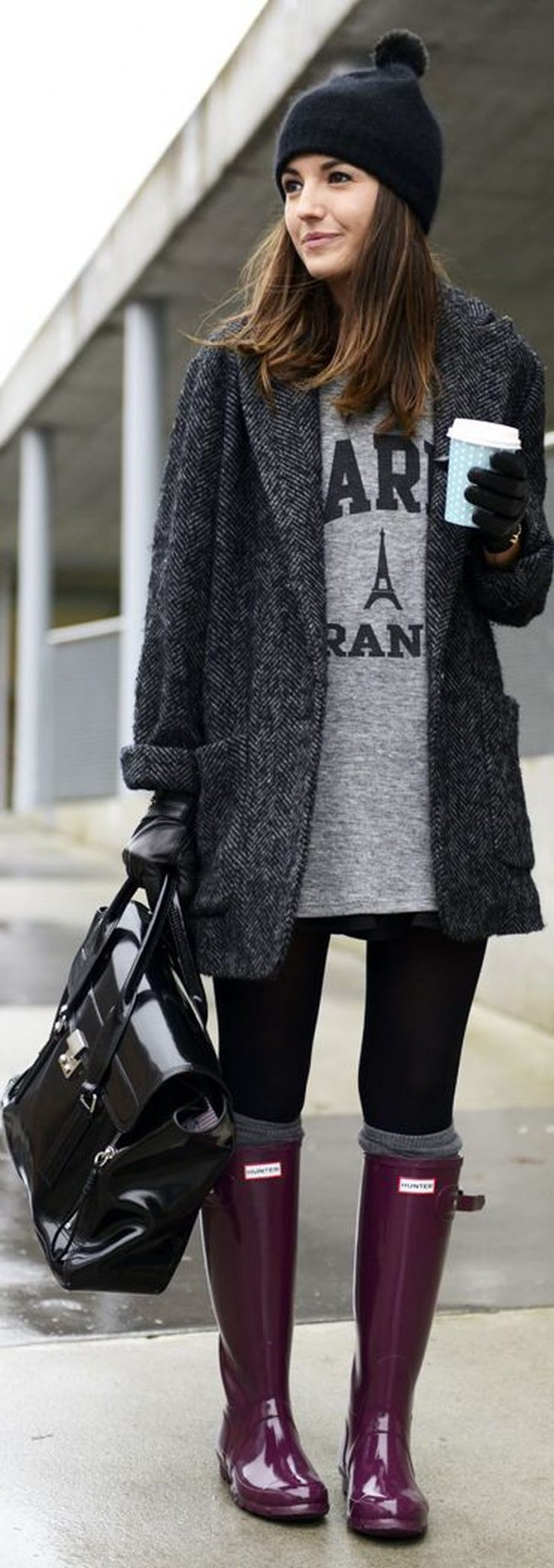 Awesome rainy day outfit style 38