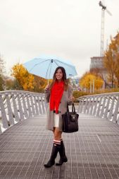 Awesome rainy day outfit style 41